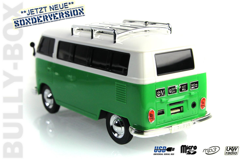 nostalgie bully box bulli bus t1 modell mp3 radio. Black Bedroom Furniture Sets. Home Design Ideas