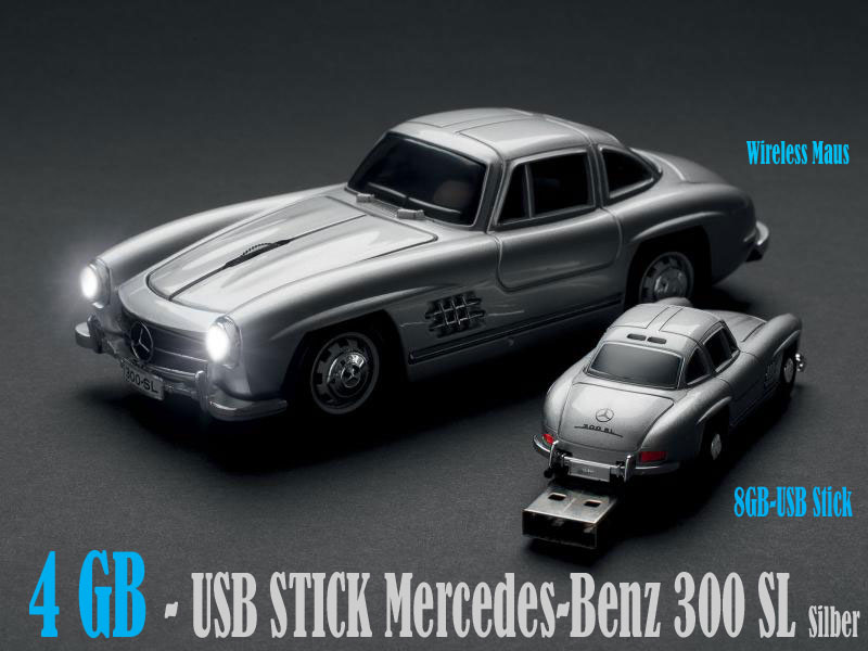 kar kas mercedes benz 300 sl 4gb usb stick flash drive. Black Bedroom Furniture Sets. Home Design Ideas